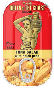 The Queen of The Coast® Brand Tuna Salad with chick peas