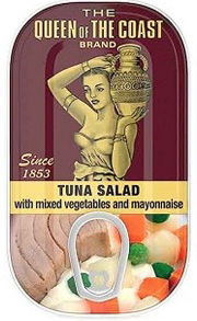 The Queen of The Coast® Brand Tuna Salad with mixed vegetables and mayonnaise