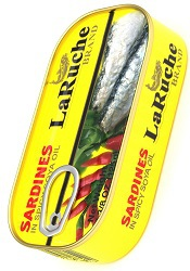 LaRuche Brand Sardines in Spicy Soya Oil